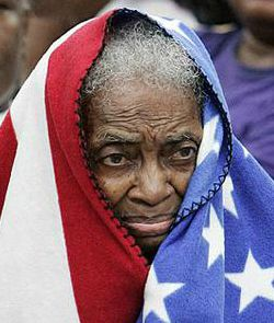 grandma US flag